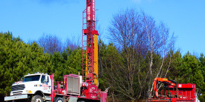 Artesian well drilling in St-Georges de Beauce