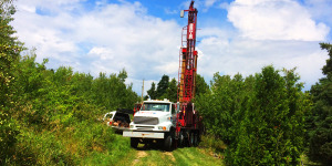 Well drilling in Charlevoix