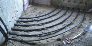 Tuyaux Horizontaux pour un projet de Géothermie à Montréal