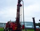 Forage d'un puits artésien au Lac Mégantic
